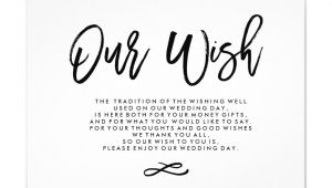 Card to Bride On Wedding Day Chic Hand Lettered Wedding Wishing Well Enclosure Card