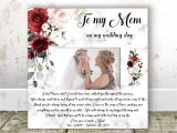 Card to Daughter On Wedding Day Mother Of the Bride Gift From Daughter Mom Wedding Gift