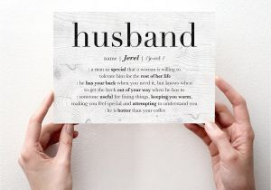 Card to Husband On Wedding Day Husband Birthday Card Personalized Husband Valentine Card