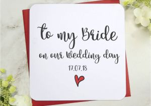 Card to Husband On Wedding Day to My Bride Groom On Our Wedding Day Card