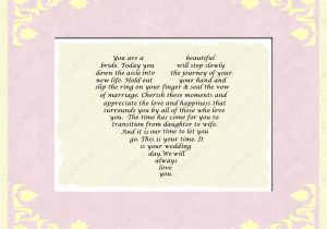 Card to Parents On Wedding Day Mother Daughter Poems