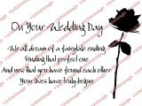 Card to Parents On Wedding Day Quotes About Our Wedding Day 46 Quotes