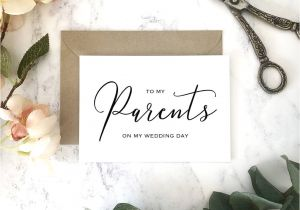 Card to Parents On Wedding Day to My Parents On My Wedding Day Card
