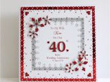 Card Verses for 40th Wedding Anniversary 40th Ruby Wedding Anniversary Card Wife Husband Mum Dad Nan