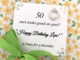 Card Verses for 50th Birthday 50th Birthday Gift for Women Fifty and Fabulous Birthday