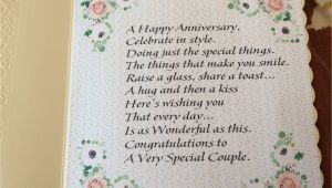 Card Verses for Golden Wedding Verse Inside the Floral Anniversary Card Anniversary Cards