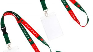 Card with Professional Details Worn On A Lanyard Amazon Com Portugal Country Flag Lanyard 2 Pack Detachable