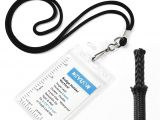 Card with Professional Details Worn On A Lanyard Keylion Lanyard with Id Badge Holder Sets 6 Pack Black