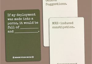 Cards Against Humanity Unique Card Disgruntled Decks the original Military Party Card Game for Veterans Army themed Deck