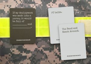 Cards Against Humanity Unique Card Operation Supply Drop to Deliver Military themed Card Game