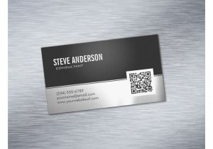 Cards Against Humanity Unique Card Qr Code Professional Modern Black Silver Metallic Business