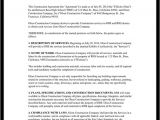 Carpentry Contract Template Construction Contract Template Construction Agreement form