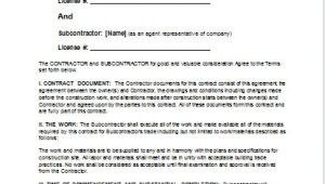 Carpentry Contract Template Sample Carpentry Contract Template for Ms Word Document Hub