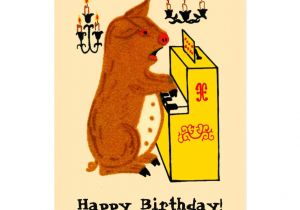 Cat Singing Happy Birthday Card Create Your Own Postcard Zazzle Com