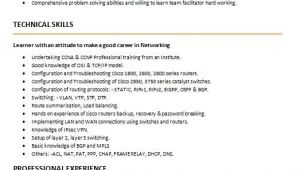 Ccna Fresher Resume format Free Download for Ccna Fresher Resume format Free Download Ephesustour Cc
