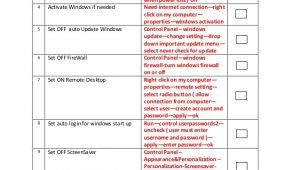 Cctv Checklist Template sop Server Cctv