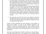 Celebrity Endorsement Contract Template Celebrity Licensing and Celebrity Endorsements