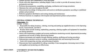 Central Service Technician Resume Sample Central Service Technician Resume Sample Talktomartyb