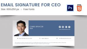 Ceo Email Template 96 Responsive Email Signatures Free Premium Templates
