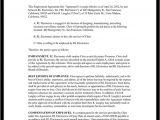 Ceo Employment Contract Template Executive Employment Agreement Contract Template with Sample