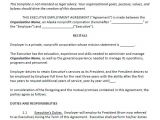 Ceo Employment Contract Template Sample Executive Agreement 5 Documents In Pdf Word