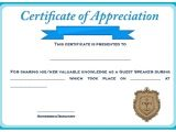 Certificate Of Appreciation for Speakers Template 12 Genuine Samples Of Certificate Of Appreciation for