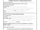 Certificate Of Insurance Request form Template Certificate Of Insurance Request form Template Business