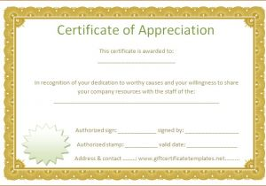 Certificate Of Partnership Template 7 Certificate Of Appreciation Templates Bookletemplate org