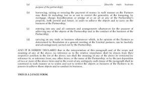 Certificate Of Partnership Template Alberta Certificate Of Limited Partnership Legal forms