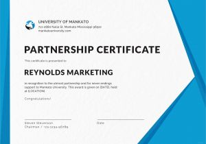 Certificate Of Partnership Template Free Business Certificate Design Template In Psd Ms Word