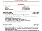Certificate On Resume Sample Cpr Certification On Resume Resume and Cover Letter