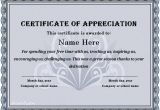 Certificates Of Appreciation Templates 31 Free Certificate Of Appreciation Templates and Letters