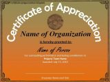 Certificates Of Appreciation Templates Certificate Of Appreciation Template Professional Word