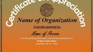 Certificates Of Appreciation Templates Certificate Of Appreciation Template Professional Word