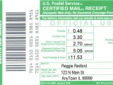 Certified Mail Receipt Template Certified Mail Information
