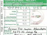 Certified Mail Receipt Template Return Receipt Letter Viqoo Club