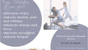 Chair Massage Flyer Templates Massage Business Flyer Flyers Poster Corporate