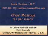 Chair Massage Flyer Templates Wellness Massage Ohio Traveling Massage Servicing the