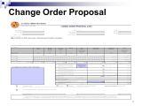 Change order Proposal Template Change order Estimating Ppt Download