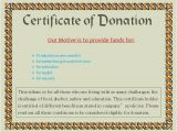 Charitable Donation Certificate Template Charity Voucher Templates Company Documents