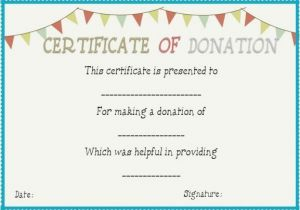 Charitable Donation Certificate Template Donation In Honor Of Certificate Template Donation