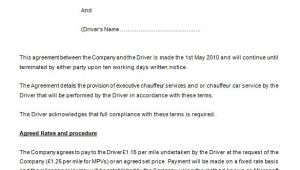 Chauffeur Contract Template 18 Job Contract Templates Word Pages Docs Free