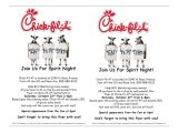 Chick Fil A Flyer Template byu Mentoring