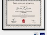 Child Adoption Certificate Template Adoption Certificate Template 12 Free Pdf Psd format