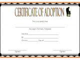 Child Adoption Certificate Template Adoption Certificate Template 9 the Best Template Collection