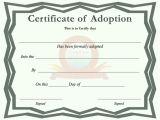 Child Adoption Certificate Template Adoption Certificate Template Free Download Speedy