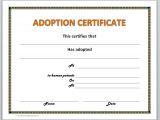 Child Adoption Certificate Template Child Adoption Certificate Template Best Templates Ideas