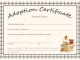Child Adoption Certificate Template Doll Adoption Certificate Design Template In Psd Word
