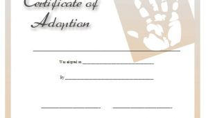 Child Adoption Certificate Template Fake Child Adoption Certificate Template Free Sample