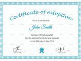 Child Adoption Certificate Template Printable Adoption Certificate Design Template In Psd Word